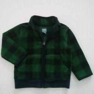 Baby Gap Plaid Zip Front Jacket Size 18-24 months